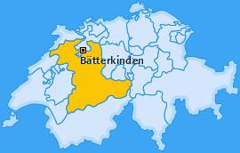Karte von Bätterkinden