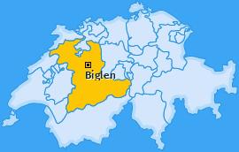 Karte von Biglen