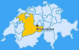 Karte von Brienzwiler