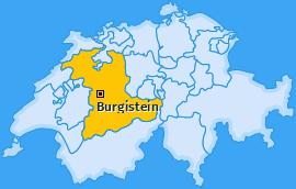 Karte von Burgistein