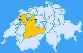 Karte von Courtelary