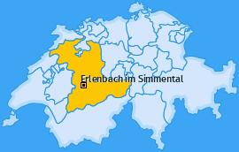 Karte von Erlenbach im Simmental