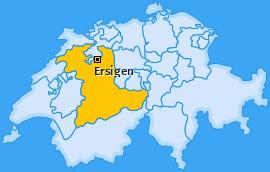 Karte von Ersigen