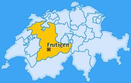 Karte von Frutigen
