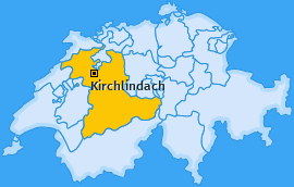 Karte von Kirchlindach