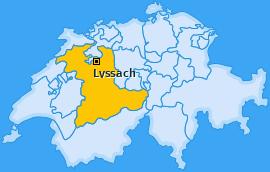Karte von Lyssach