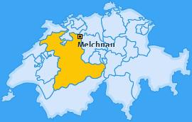 Karte von Melchnau