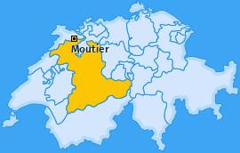 Karte von Moutier