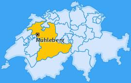 Karte von Mühleberg