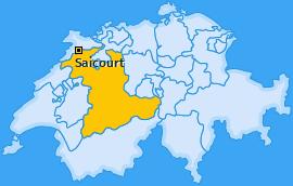 Karte von Saicourt