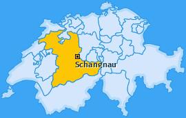 Karte von Schangnau