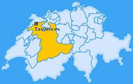 Karte von Tavannes