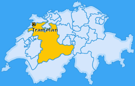 Karte von Tramelan