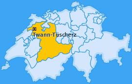 Karte von Twann-Tüscherz