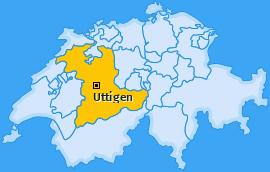 Karte von Uttigen