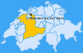 Karte von Wangen an der Aare
