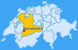 Karte von Zweisimmen