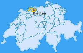 Karte von Diegten