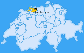 Karte von Tecknau