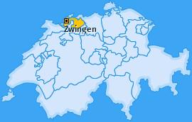 Karte von Zwingen