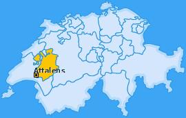 Karte von Attalens