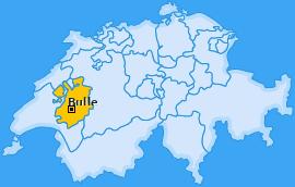 Karte La Tour-de-Trême Bulle