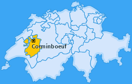 Karte Corminboeuf Corminboeuf