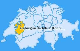Karte von Freiburg im Üechtland (Fribourg)