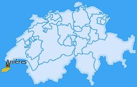 Karte von Anières