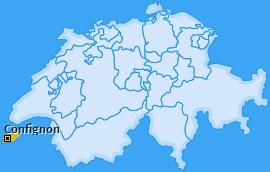 Karte von Confignon