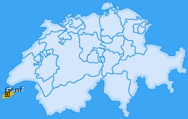 Karte von Genf