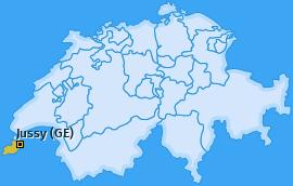 Karte von Jussy (GE)