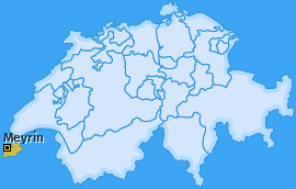 Karte von Meyrin