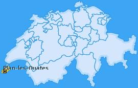 Karte von Plan-les-Ouates