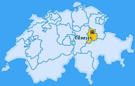 Karte Riedern Glarus