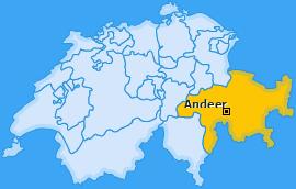 Karte von Andeer