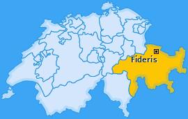 Karte von Fideris