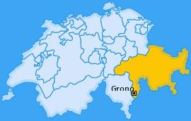 Karte von Grono
