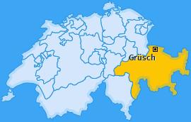 Karte von Grüsch