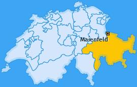 Karte von Maienfeld