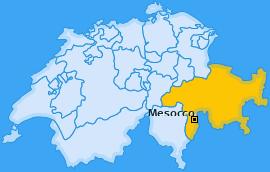 Karte von Mesocco