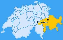 Karte von Rhäzüns