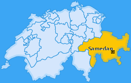 Karte von Samedan