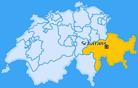 Karte von Scharans