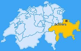 Karte von Schiers