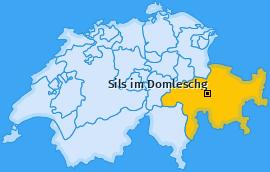 Karte von Sils im Domleschg