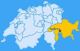 Karte von Sufers