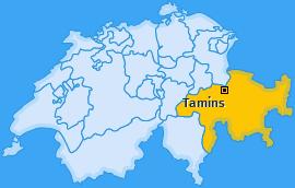Karte von Tamins