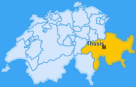 Karte von Thusis