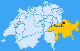 Karte von Trimmis